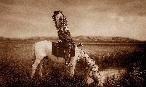An Oasis in the Badlands - Sioux(Chief Red Hawk)