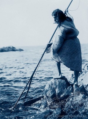 Nootka method of spearing - Hesquiat (Nootka)