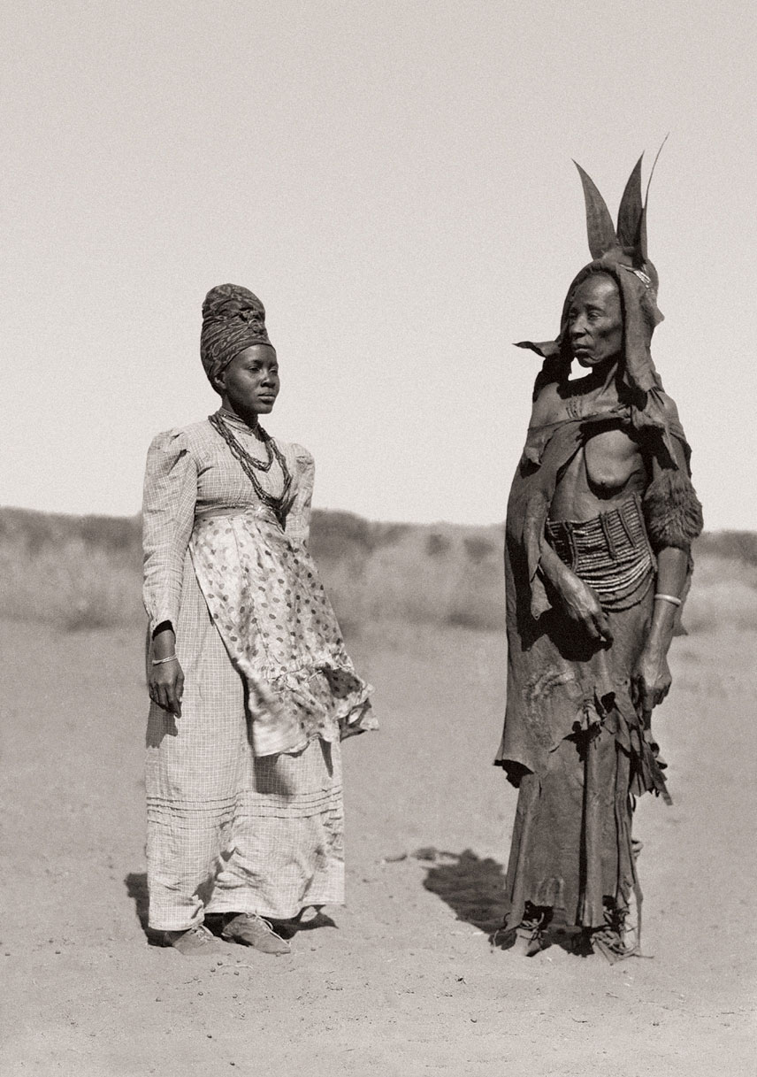 Modern and traditional dress worn by Herero women, Namibia. (Duggan-Cronin, 2007. Pg. 27, Plate 5)
