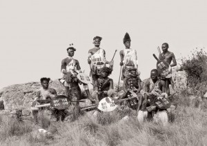 Xolo (Zulu) men in festive dress, Port Shepstone district. (Duggan-Cronin, 2007. Pg. 19, Plate 4)